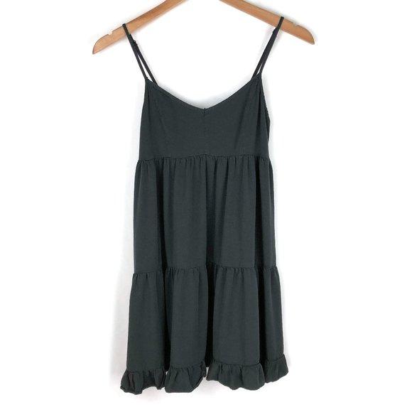 American Eagle | Gray Tiered Babydoll Mini Dress